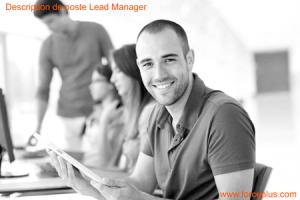 Lead Manager description de poste FORCE PLUS