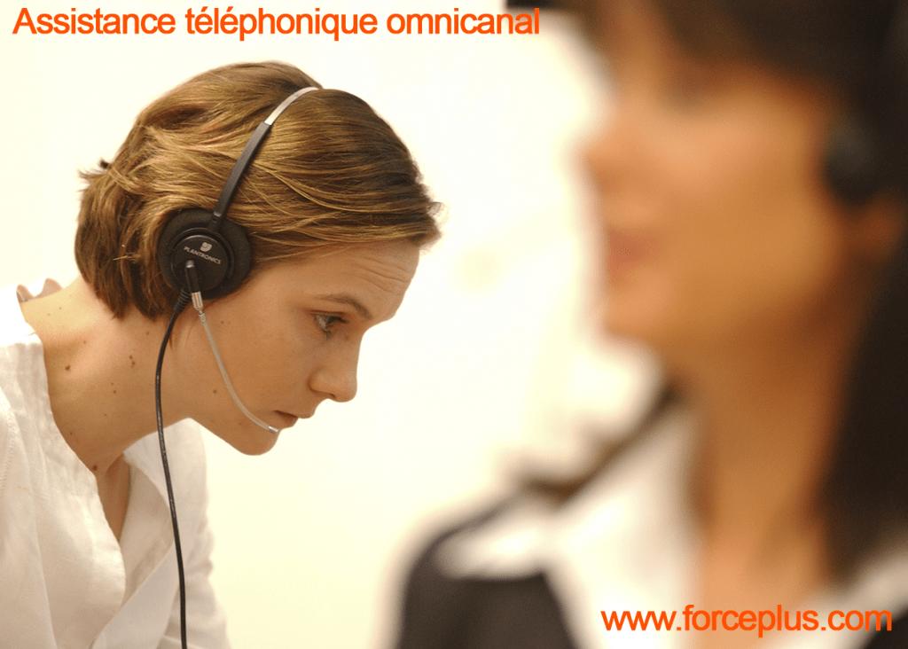 assistance téléphonique omnicanal