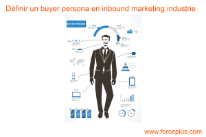 définir un buyer persona en inbound marketing industrie