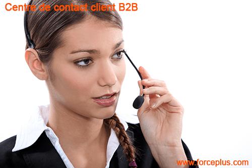 Centre de contact client B2B