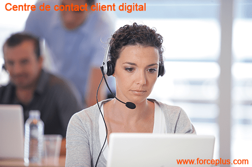 Centre de contact client digital