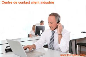Centre contact client industrie