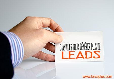 3 astuces pour générer plus de leads
