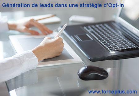 Opt-IN stratégie de génération de lead