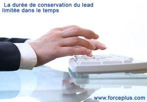 la durée de conservation du lead