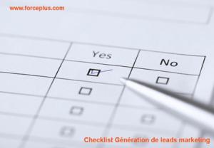 Checklist-Génération-de-leads-marketing | FORCE PLUS