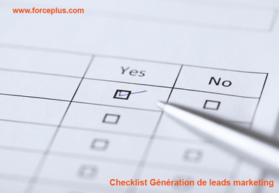 checklist génération de leads marketing | FORCE PLUS