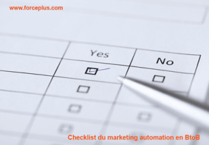 Checklist du marketing automation en BtoB | FORCE PLUS