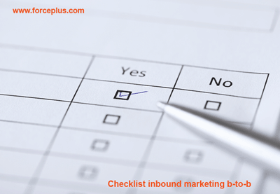 Checklist inbound marketing b-to-b | FORCE PLUS