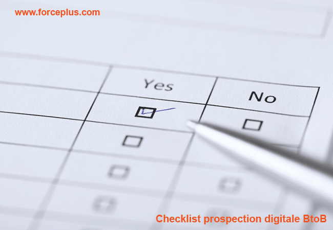 Checklist prospection digitale BtoB