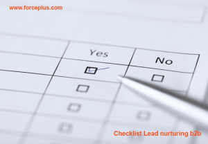 Checklist-Lead-nurturing-b2b | FORCE PLUS